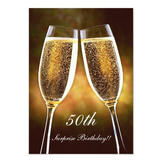 Invitation Danniversaire De Champagne