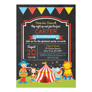 Invitation d'anniversaire de cirque