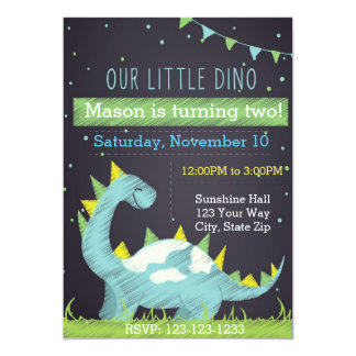 Invitation d'anniversaire de Dino (garçon)