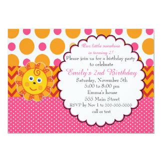 Invitation d'anniversaire de enfant de soleil