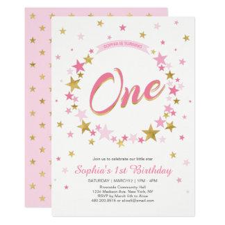 Invitation d'anniversaire de fille de l'étoile |