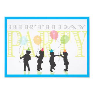 Invitation d'anniversaire de garçons - bleu