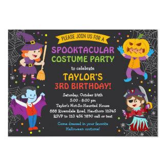 Invitation d'anniversaire de Halloween, partie de