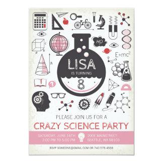 Invitation d'anniversaire de la Science - fille