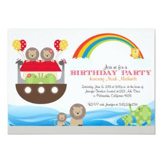 Invitation d'anniversaire de l'arche de Noé