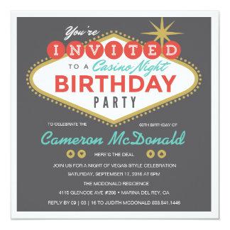 Invitation d'anniversaire de Las Vegas de vivats