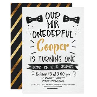 Invitation d'anniversaire de M. Onederful