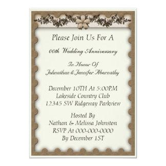 Invitation d'anniversaire de mariage