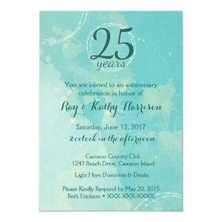 Invitation d'anniversaire de mariage d'aquarelle