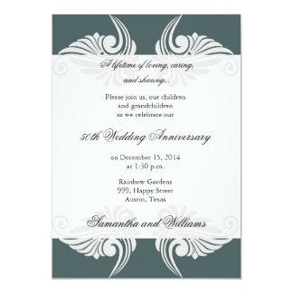Invitation d'anniversaire de mariage de classique