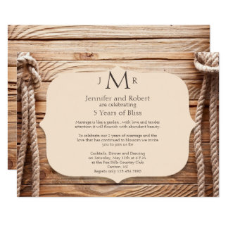 Invitation d'anniversaire de mariage de noeud