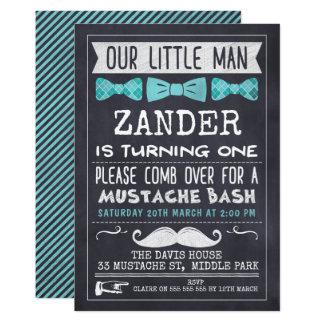 Invitation d'anniversaire de moustache de tableau