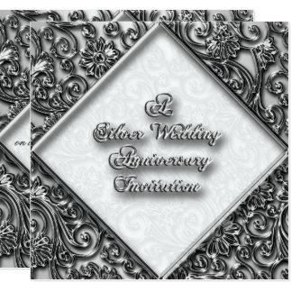 Invitation d'anniversaire de noces d'argent