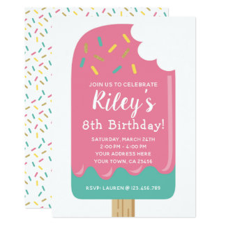 Invitation d'anniversaire de Popsicle