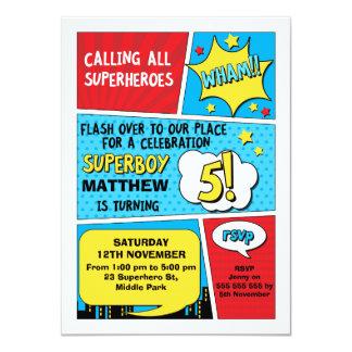 Invitation d'anniversaire de super héros de