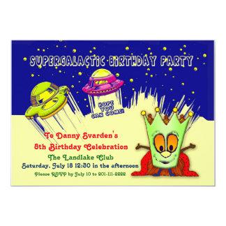 Invitation d'anniversaire de SuperGalactic