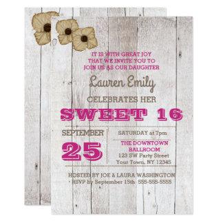 Invitation d'anniversaire de sweet sixteen de