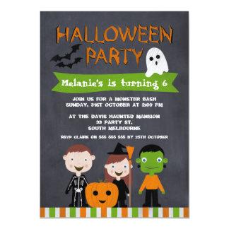 Invitation d'anniversaire de tableau de Halloween