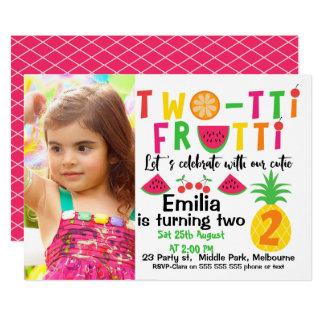 Invitation d'anniversaire de Two-tti Fruitt de