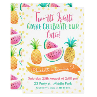 Invitation d'anniversaire de Two-tti Frutti de