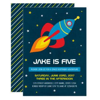 Invitation d'anniversaire de vaisseau spatial