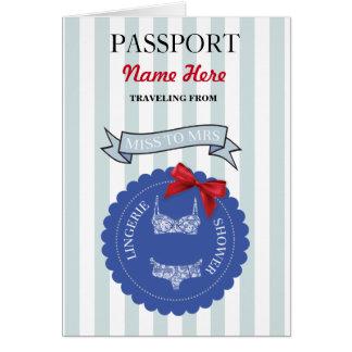 Invitation d'avion de rouge bleu de passeport de
