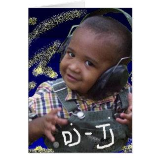 Invitation de B-Jour du DJ TJ Carte De Vœux
