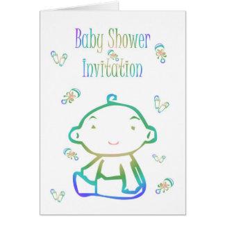 Invitation de baby shower attendant des goupilles