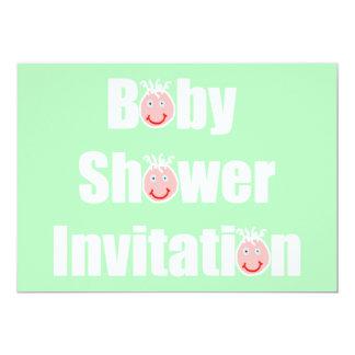 Invitation de baby shower attendant le visage de