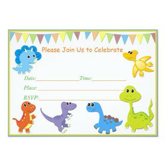 Invitation de baby shower de dinosaure