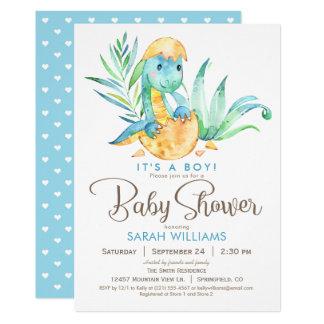 Invitation de baby shower de dinosaure de garçon