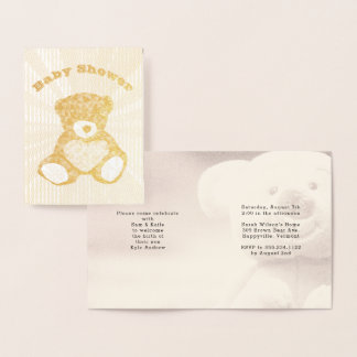 Invitation de baby shower de famille d'ours de