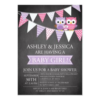 Invitation de baby shower de hibou