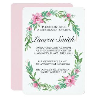 Invitation de baby shower de magnolia