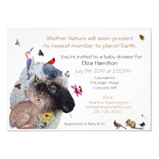 Invitation de baby shower de mère nature :