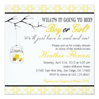 Invitation de baby shower de pot de maçon