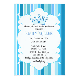 Invitation de baby shower de prince Boy