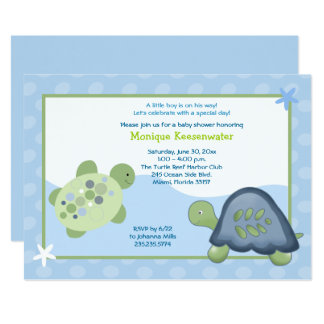 Invitation de baby shower de récif de tortue -