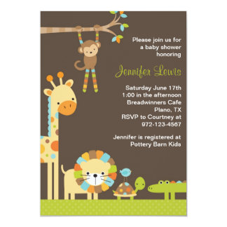 Invitation de baby shower de safari de jungle de