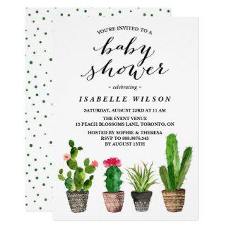 Invitation de baby shower de Succulents