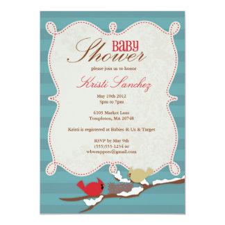Invitation de baby shower de vacances d'hiver -
