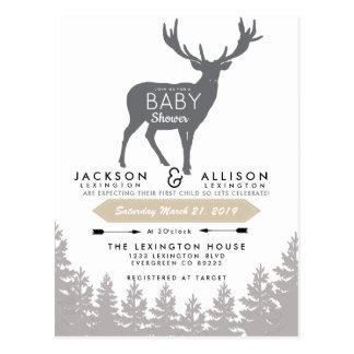 Invitation de baby shower d'évasion de région