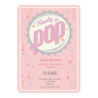 Invitation de baby shower (fille) - préparez pour