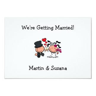Invitation de bande dessinée de couples de mariage