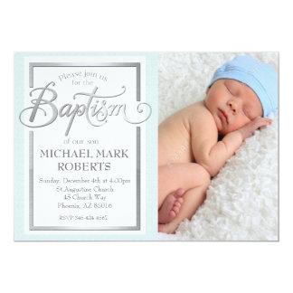 Invitation de baptême, baptême, baptême de garçon