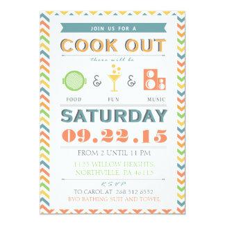 Invitation de barbecue de barbecue de nourriture,