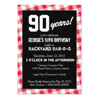 Invitation de BARBECUE de jardin d'anniversaire
