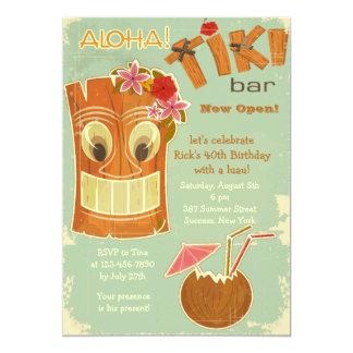 Invitation de barre de Tiki