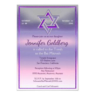 Invitation de bat mitzvah