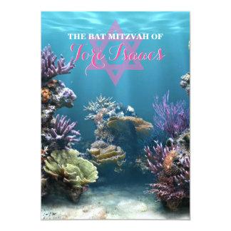 Invitation de bat mitzvah d'aquarium